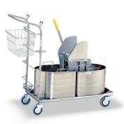 1C Series Half Oval Double Tank Mopping Unit - Tank Capacity