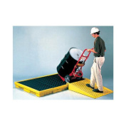 Eagle 6-Drum Polyethylene Spill Pallet With Grating With 249.8l Secondary Spill Capacity 200cm X 130cm X 17cm
