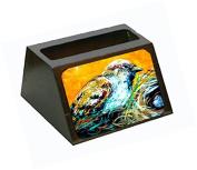 Look at the Birdie Decorative Desktop Professional Wooden Business Card Holder MW1158BCH