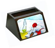 Must Be Monday Decorative Desktop Professional Wooden Business Card Holder MW1090BCH