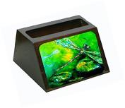 Dragonfly Summer Flies Decorative Desktop Professional Wooden Business Card Holder MW1114BCH