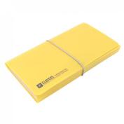 Elastic Strap 12 Pocket A6 Paper Document Receipt Organiser File Holder Yellow