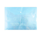 Clear Blue Soft Plastic Paper Files Carrying Store Bag