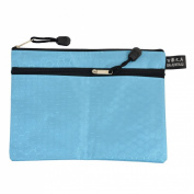Office Stationery Blue Hexagon Pattern A5 Paper File Document Zipper Bag Holder