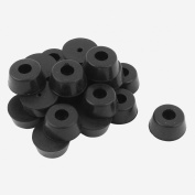 Furniture Cabinet Cupboard Legs Feet Recessed Rubber Washer Pad 22x10mm 21Pcs