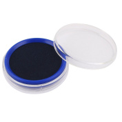 Clear Round Shape Plastic Box Quick Dry Blue Ink Stamp Stamper Pad Cushion