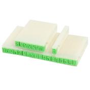 Beige Plastic Handle Stationery A-Z Letters Alphabet Stamp Set Stationers