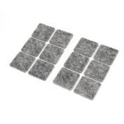 Grey Self Adhesive Felt Pad Furniture Table Chair Legs Floor Protectors 12pcs