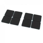 Furniture Square Shaped Self-adhesive Anti-slip Cushion Pads Mat 8 Pcs Black