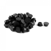 Furniture Table Couch Stools Protector Black Rubber Chair Leg Tip 60pcs