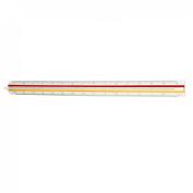 1:20 1:25 1:50 1:75 1:100 Plastic Red Yellow Green Triangular Ruler 30cm