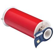 Brady - 13553 - Red Vinyl Film Label Tape Cartridge, Indoor/Outdoor Label Type, 15m Length, 8 Width