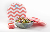 Accessories S2000322 Sleeved Salad Container - Chevron