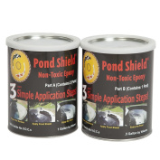 Pond Armour SKU-CLEAR-GA Non-Toxic Pond Shield Epoxy Paint, 5.7l, Clear