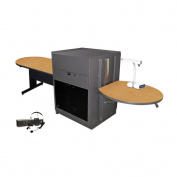 Vizion Peninsula Table With Media Centre Finish
