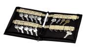 PM Company Portable Zippered Key Case with 24 Key Tags, 7 x 2.5cm x 21cm , Black, 1 per Pack