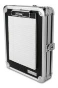 Vaultz Locking Mini Storage Clipboard, 13cm x 20cm , Black with Chrome Accents
