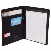 "eFolio(TM) Genuine Bonded Leather Executive Business Portfolio with a 8 ½"" X 28cm Notepad"