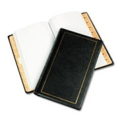 Looseleaf Minute Book Black Leather-Like Cover 125 Pages (250 Cap) 8 1/2 X 14 By