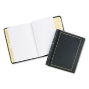 Looseleaf Minute Book Black Leather-Like Cover 125 Pages (250 Cap) 8 1/2 X 11 By