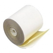 Paper Rolls Teller Window/financial 7.6cm X 27m 2 Ply White/canary 50/carton By