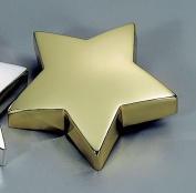 STAR PAPERWEIGHT, BRASS PLATED.