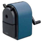 Uni KH-20 Hand Crank Wooden Pencil Sharpener - Blue