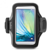 Belkin F8M940 Slim-Fit Plus Fitness Armband with Card Pocket and Cord Management for Samsung Galaxy S6 and S6 Edge - Black
