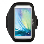 Belkin F8M942 Sport-Fit Plus Fitness Armband with Key and Cash Pocket for Samsung Galaxy S6 and S6 Edge - Black