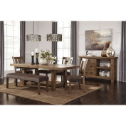 Signature Design by Ashley Tamilo Grey/Brown Rectangle Extension Dining Room Table