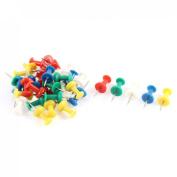 Office Home School Teacher Thumb Push Pins Tacks Multi Coloured 35 Pcs