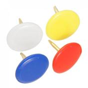 100 Pcs Round 5 Colours Corkboard Photo Push Pins Thumb Tacks 10mm
