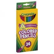 . 684024 Long Barrel Coloured Woodcase Pencils, 3.3 mm, 24 Assorted Colours/Set