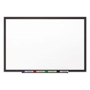 Classic Porcelain Magnetic Whiteboard 96 X 48 Black Aluminium Frame By