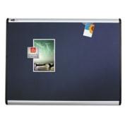 Prestige Plus Magnetic Fabric Bulletin Board 72 X 48 Aluminium Frame By