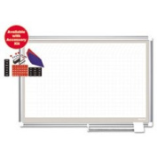 All-Purpose Planner With Accessories 1x2 Grid 72x48 White/silver By