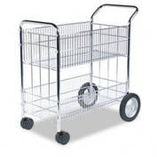 Wire Mail Cart 21-1/2w X 37-1/2d X 39-1/4h Chrome By