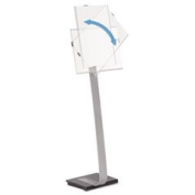 Info Sign Duo Floor Stand Tabloid-Size Inserts 15 X 44 1/2 Clear By