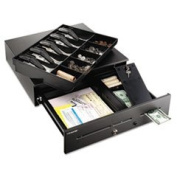 High-Security Cash Drawer 18 X 16 3/4 X 4 3/4 Black By