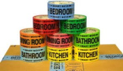 4 Bedroom Labelling Tape Living Room Packing Tape Bathroom