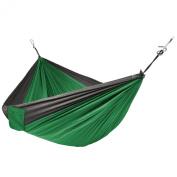 Portable Parachute Hammock Silk Fabric Hanging Outdoor Camping Patio Green