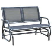 120cm Outdoor Patio Swing Glider Bench Chair - Dark Grey