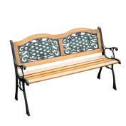 130cm Outdoor Patio Garden Park Bench Love Seat