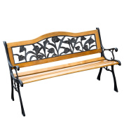 130cm Floral Outdoor Patio Garden Park Bench
