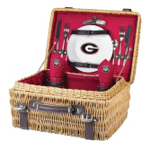 NCAA Georgia Bulldogs Champion Picnic Basket with Deluxe Service for Two, Red