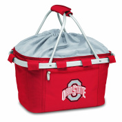 Picnic Time Metro Basket Ohio State Buckeyes Embroidered Red