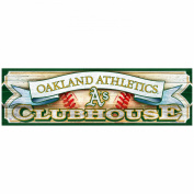 MLB Oakland Athletics 9-by-30 Wood Sign