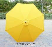 2.7m Umbrella Replacement Canopy 8 Ribs in Yellow