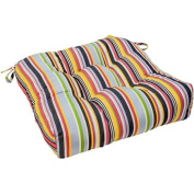 50cm Outdoor Chair Cushion, Sunbrella® Fabric, Malibu Stripe