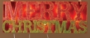 Lighted Merry Christmas Sign Stake Christmas Decoration